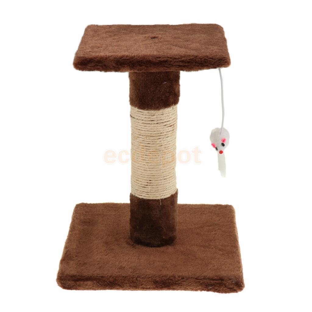 petsola Cat Tiragraffi Struttura per arrampicarsi Hanging giocattolo mouse E1 fibra + panno della peluche del gatto Scratching giocattolo Scratcher