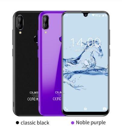 "OUKITEL C16 5.71"" HD + 19: Telefono 9 WaterDrop Smartphone Android 9.0 di impronte digitali MT6580P 2G RAM 16G ROM 2600mAh Sblocco cellulari"