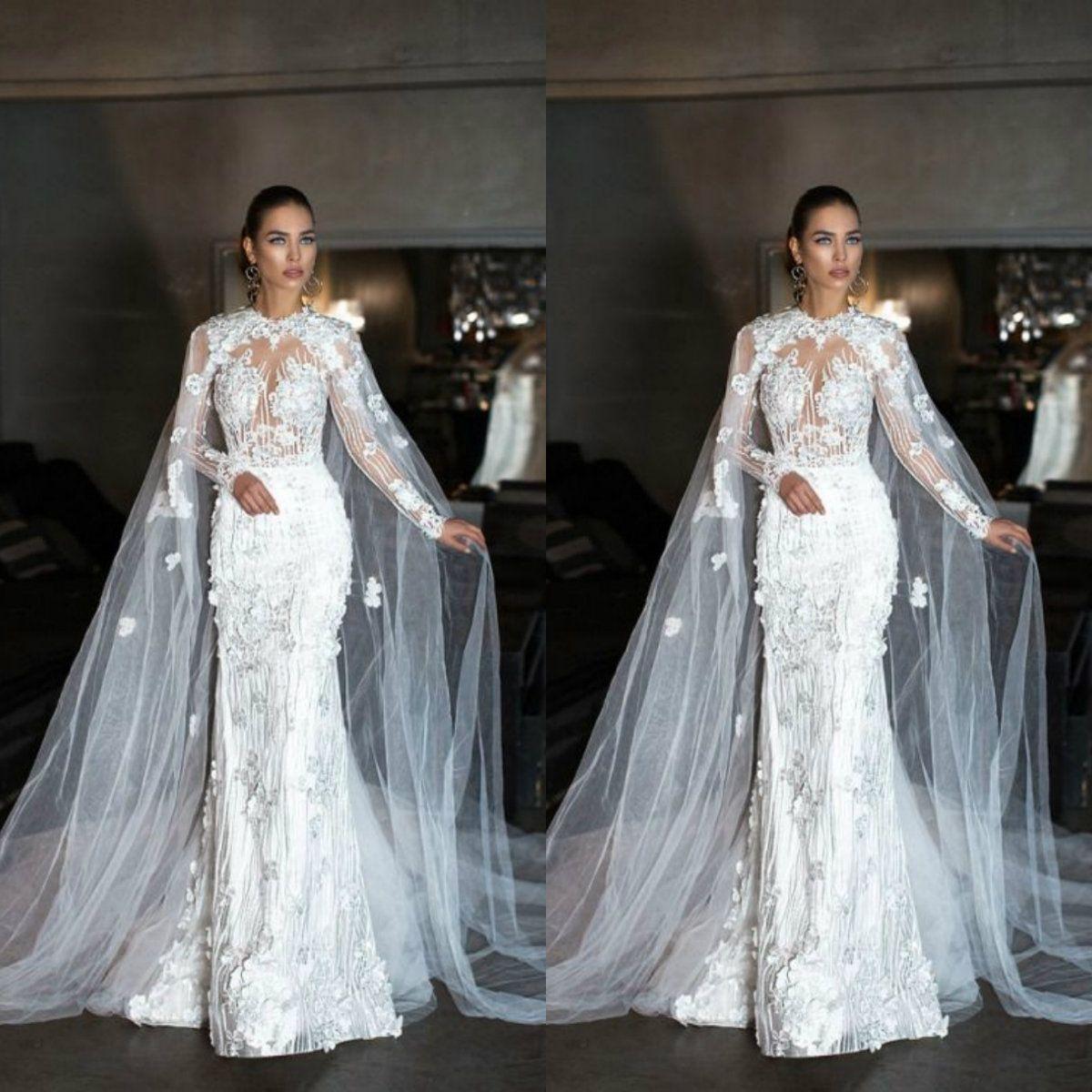 Design esclusivo Wedding Wrap 2019 Tulle Mantello di pizzo da sposa da sposa Cape senza maniche scialle da sposa su misura giacche da sposa spedizione gratuita