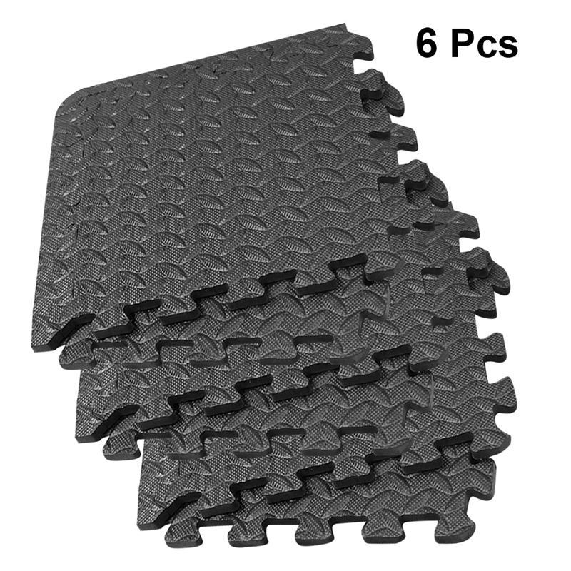 6Pcs Splicing Bodenmatten Yoga-Matten Patchwork Teppiche verdicken Absorption Bodenmatten EVA Blatt Getreide zum Gym Dance Raum