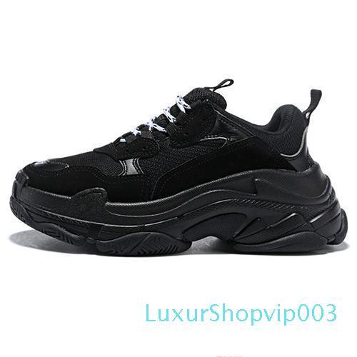 Designer de Moda Paris 17FW Triple-S 2018 Shoes pai Triple S Sneaker Desi luxo para Casual Mulheres Bege Preto Triple S Calçados masculinos 36-45 lll