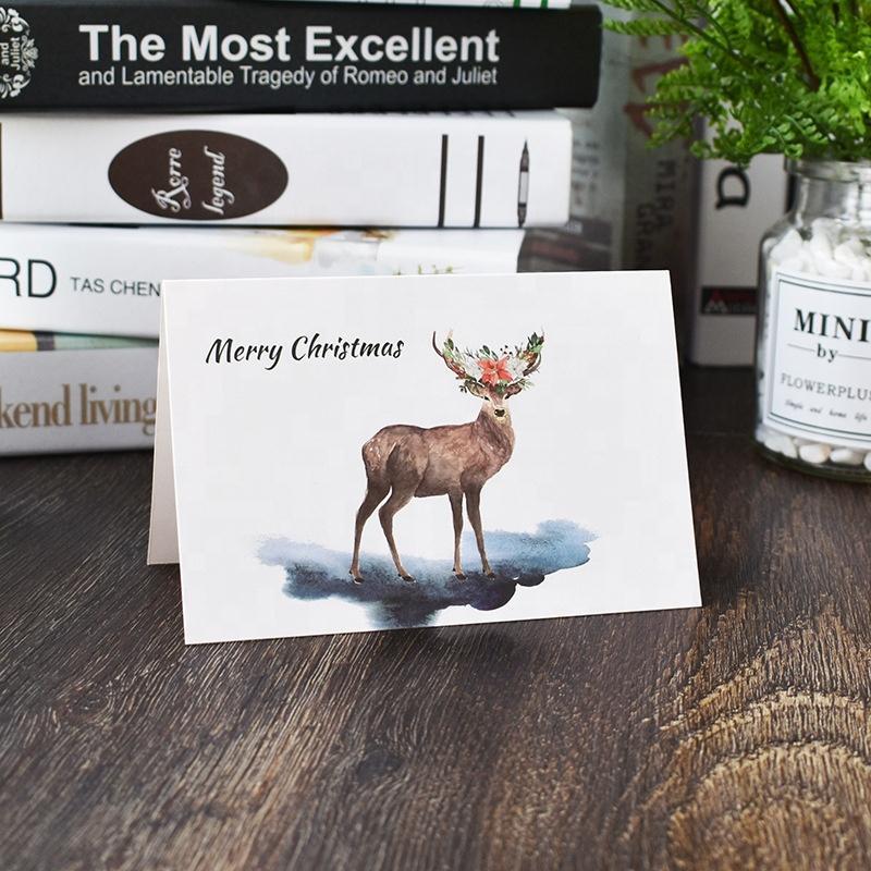 بطاقة معايدة الطباعة حسب الطلب، ورقة هدية عيد ميلاد سعيد بطاقة المجموعة
