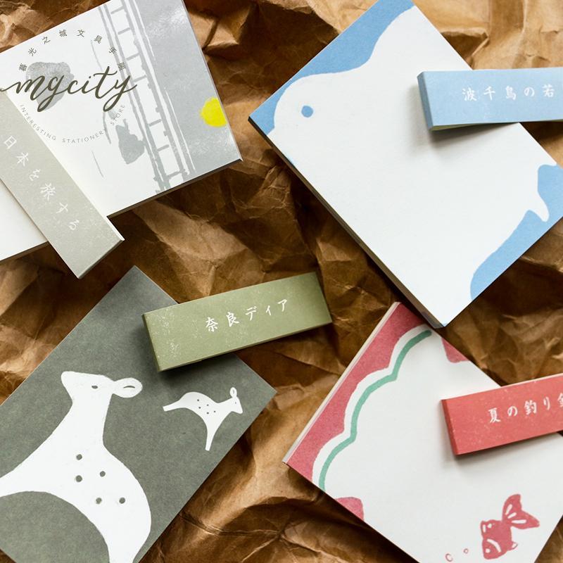 6PCS / LOT ضوء ريترو اليابانية سلسلة الأظافر لاصقة ن مرات ملصقات مذكرة منصة
