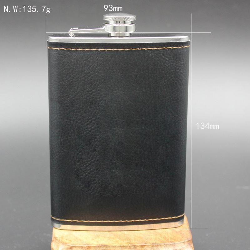 Garrafa De Uísque De Couro Garrafa De Uísque De Aço Inoxidável De Alta Qualidade Com Garrafa De Whisky De Bolso Com Álcool Gravada Com Presentes De Caixa Preferidos Em 2019