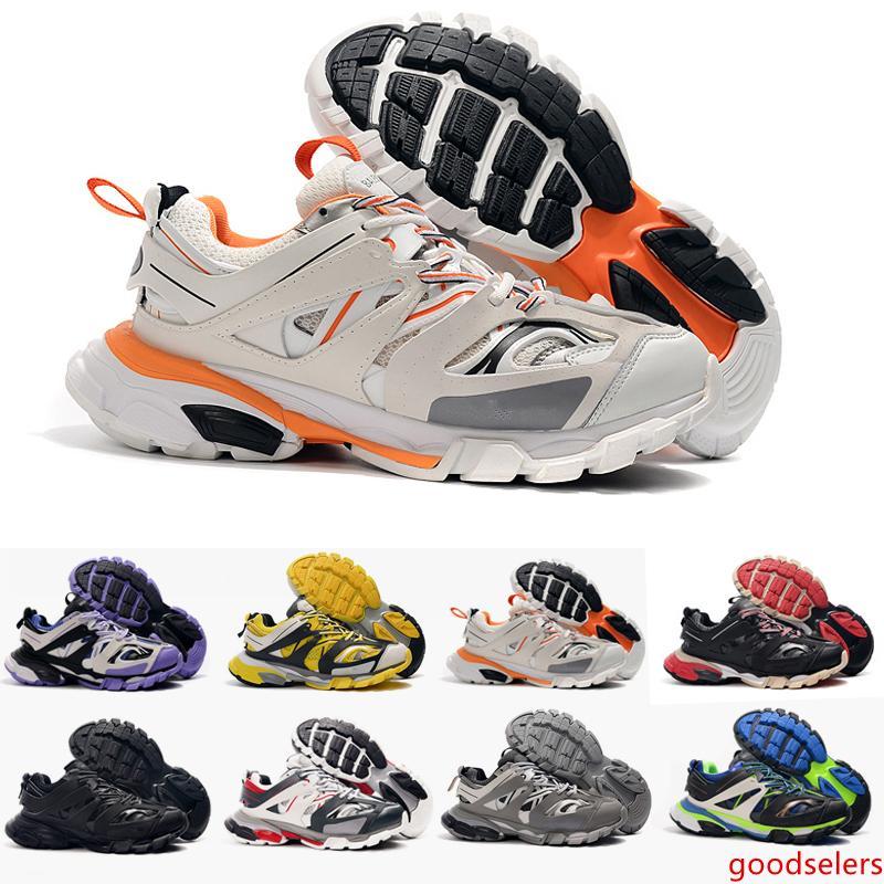 Top Quality pista di uscita 3,0 Tess S Paris Scarpe Sneakers Triple S chiaro unico uomo per le donne Cesti Uomini Sneakers Trainers