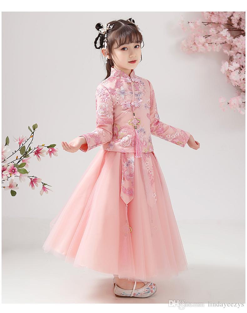 Linda2020 UB6.0 أسود / متعدد الألوان الطفل ملابس أطفال يست حقيقية التعميد فساتين DHLEMSAramex شحن لمدة