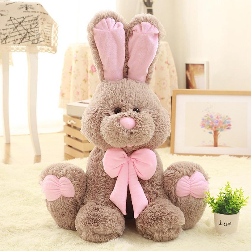 Kawaii 50/70/80 см зайчик плюш кролика детские игрушки милые мягкие чучела животные плюшевые игрушки дети кролика спать приятель фаршированные плюшевые