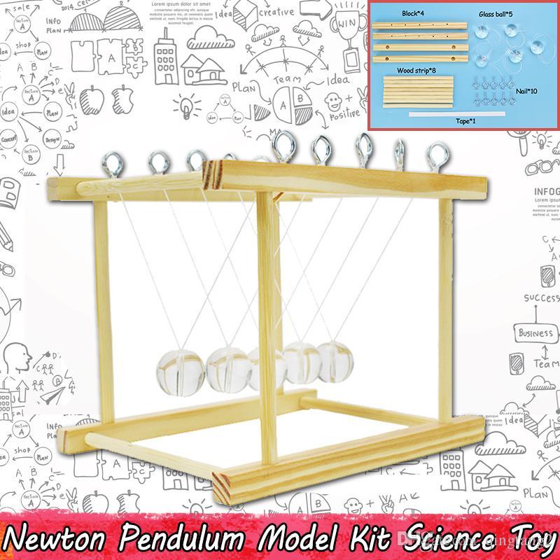 Woody Newton Sarkaç Bilim Eğitici Oyuncaklar Çocuklar için Fizik Deneyi Öğrenciler için Bilimsel Eğitim Modeli Kitleri Ev Ofis Dekor