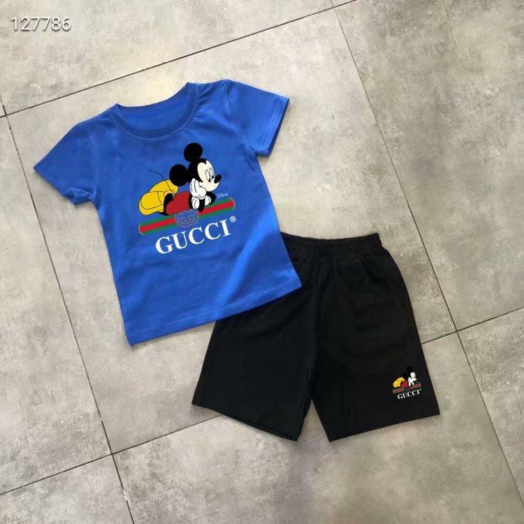 Nuovo stile di marca del progettista dei bambini che coprono il vestito per ragazzi e ragazze Sport infantile del breve i vestiti manica Bambini Set SDSS