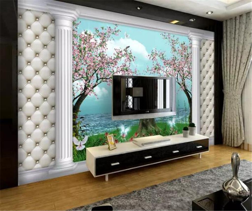 Custom Wallpaper 3d Beautiful Dreamy Landscape Roman Column Living Room Bedroom Background Wall Decoration Wallpaper Wallpaper For Desktop Background