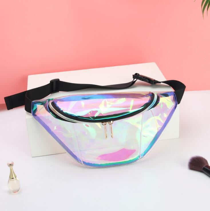 2020 sacos de mulher saco da cintura Corpo Cruz Bolsa Laser material de alta qualidade bolsas de um ombro cintura Peito Bag