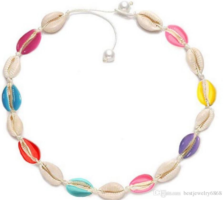 Bohemian Chain Natural Shell Short Collar Chain Choker Charm Necklace Jewelry