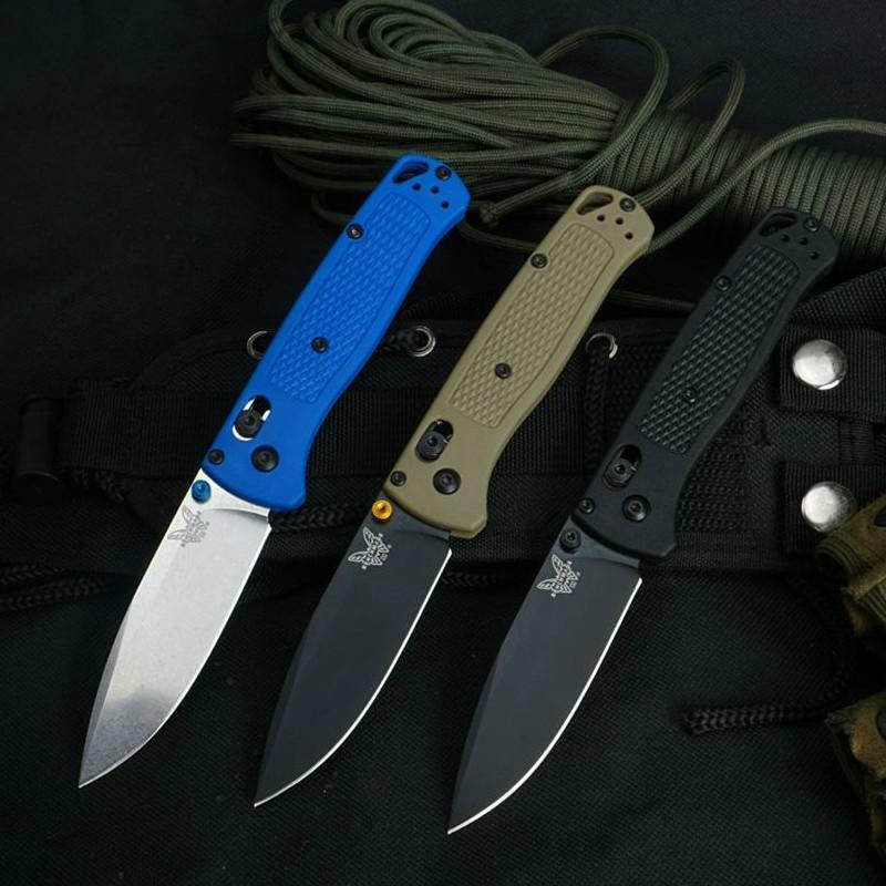 Benchmade BM535 couteau de poche S30V verre Lame fibre de nylon poignée AXIS verrouillage DELAVAGE Outils EDC Surface