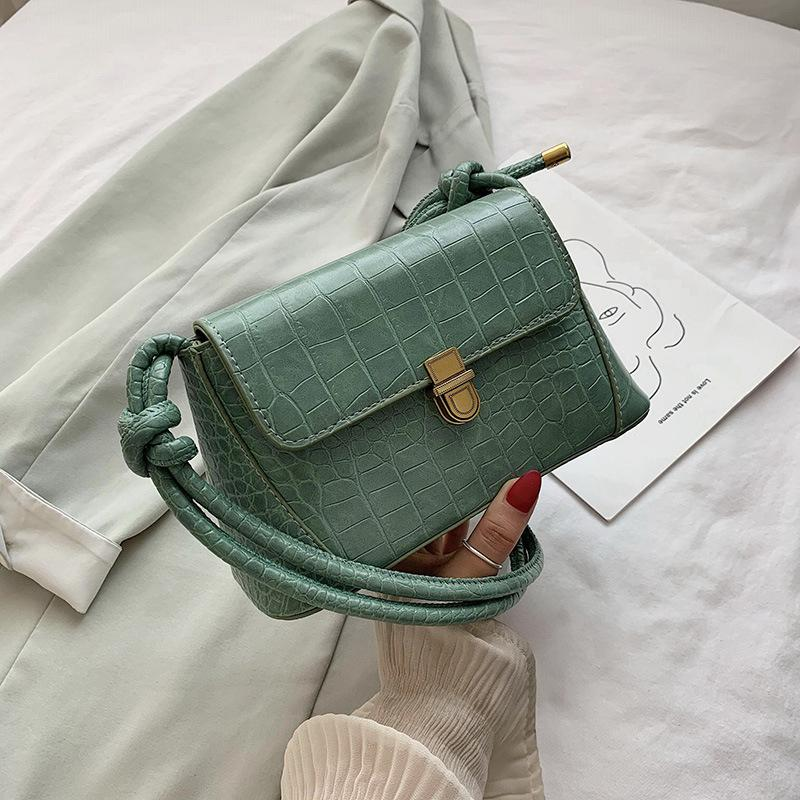 Borsa Noumean femminile borsa a tracolla modello nuovo coccodrillo di modo estate 2020 di nicchia francese tessitura ascella