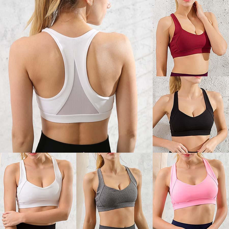 Women Sports Bra Cross Ring-Free Sports Running Underwear Fitness Shock-Proof Tops,RD,M,One Size