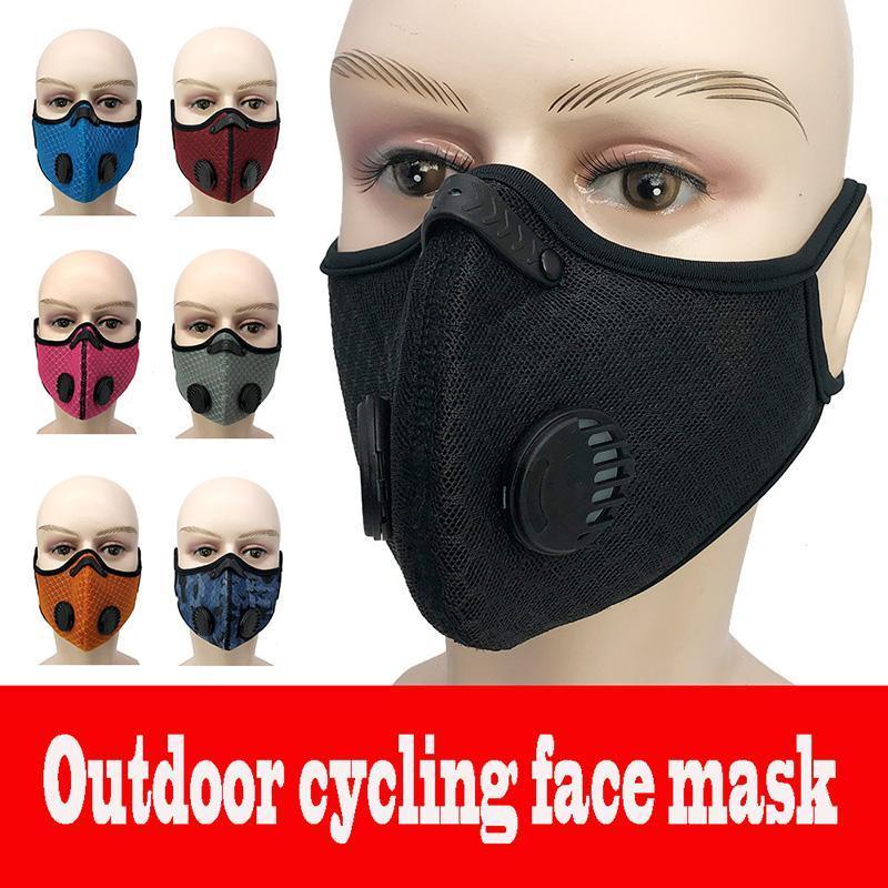 DHL färbt neue Hanging Ohr Outdoor Radfahren Gesichtsmaske staubdicht Anti Smog Wiederverwendbare Männlich Weiblich Maske mit 1 Free PM2.5 Filter