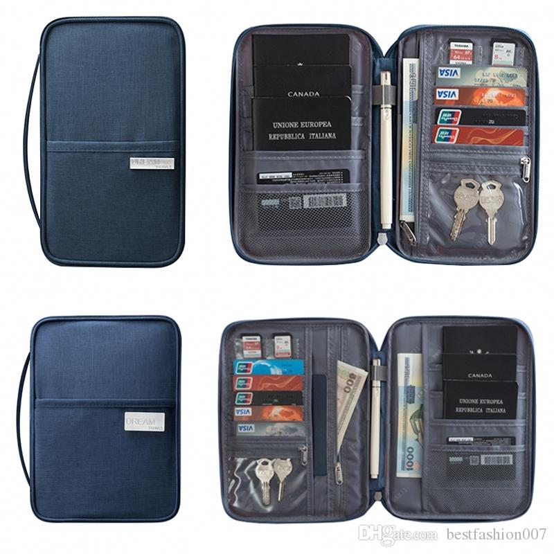 Новый паспорт Дорожный кошелек Держатель паспорта Многофункциональный пакет с кредитной картой ID-документ Упаковка для хранения нескольких карт Сцепление