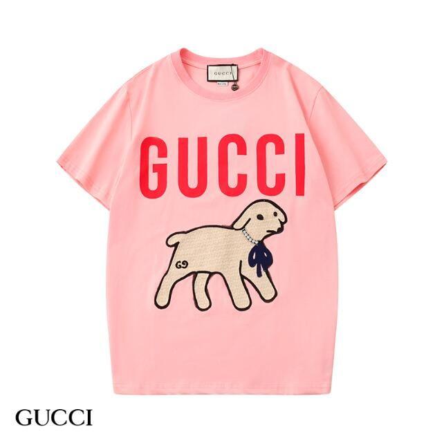 Yeni 2020 İlkbahar Yaz Streetwear Tee Lüks Tasarım Tees Gömlek Erkekler Kadınlar Moda Letter Kuzu Desen Baskı Tişört Casual Tshirt S-2XL