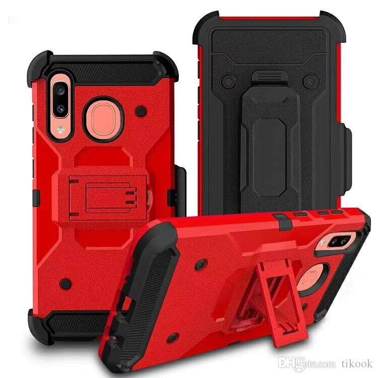 Combo Holster Case for Samsung Galaxy S20 Nota 10 A10E A20S A10S A20 / A50 / S10 Stylo6 K51 A01 A21 A21S MOTO E7 Aristo5 K31 Kickstand A11 Cases