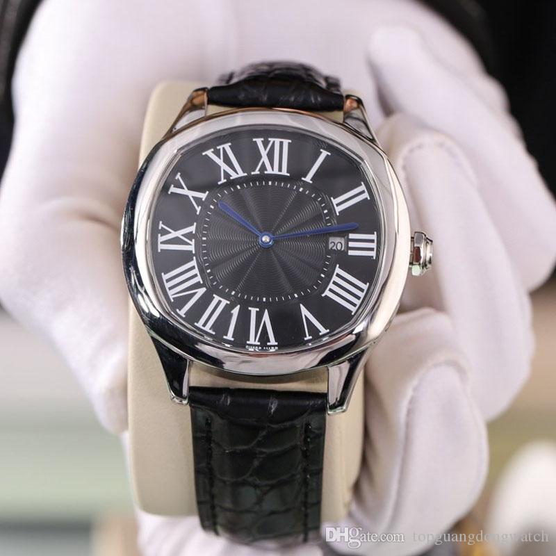 alta calidad de lujo UNIDAD DE reloj para hombre WGNM0007 40MM movimiento automático de marcación 316 de cuero caja de acero inoxidable correa de reloj de caballero