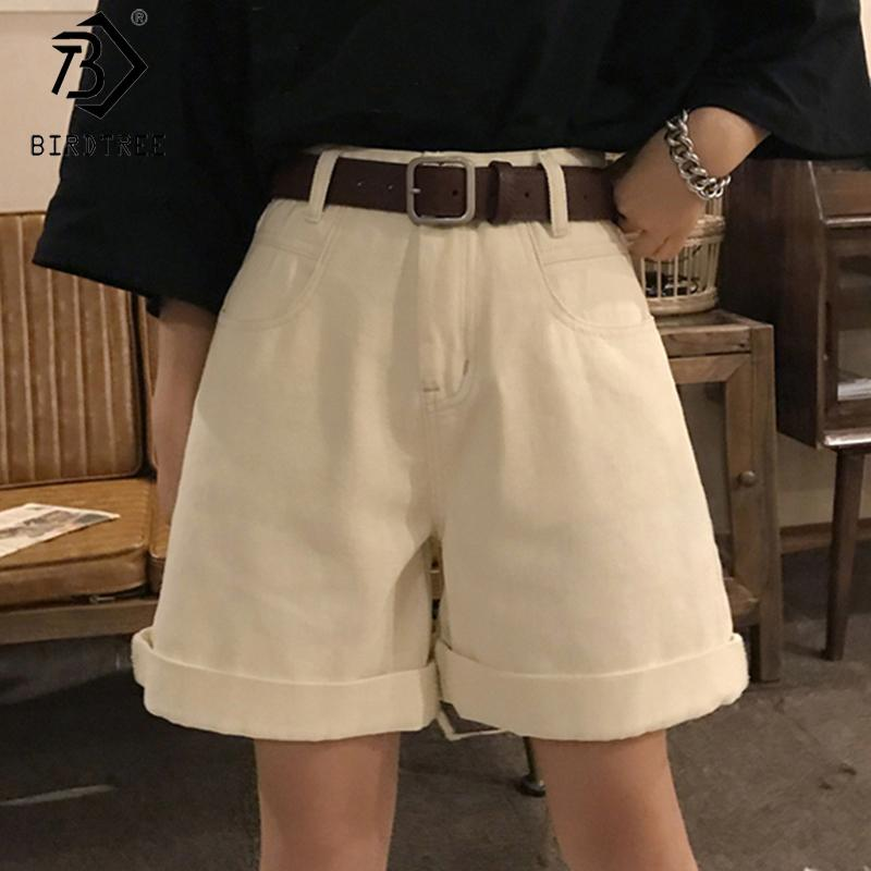 A vita alta allentato casuale denim Shorts Moda 2020 Primavera E NUOVE donne di estate gamba larga Shorts Pantaloni Donna B01409O Y200623