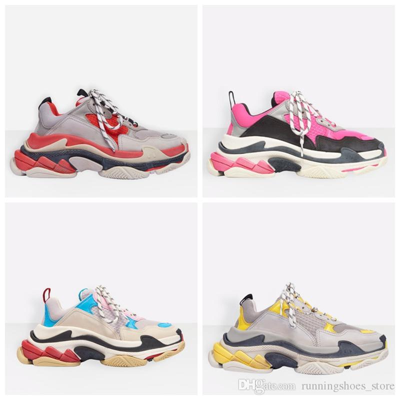 2020 Triple S Sneaker Paris Tripler Beiläufiges Dad Herren Designer-Schuhe für Frauen-Plattform Turnschuhe Sport-Trainer taquets Chaussures Größe 36-45