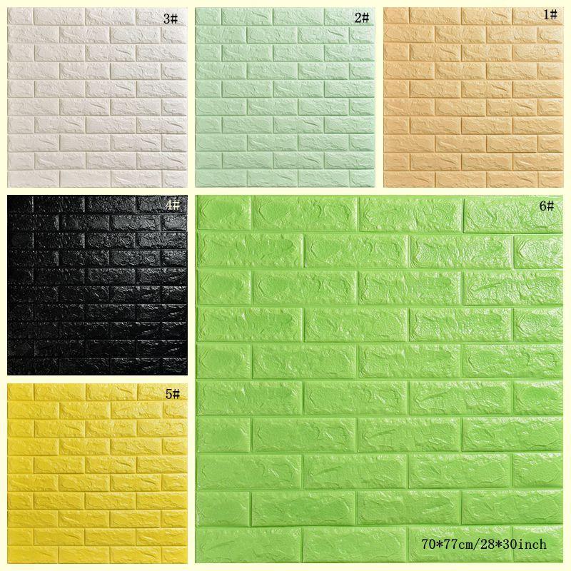 Papel de pared creativo 3D estéreo impermeable de papel tapiz de fondo de ladrillo de piedra pegatinas de pared de la sala del hotel Estudio Revestimiento de paredes DBC DH1157-1