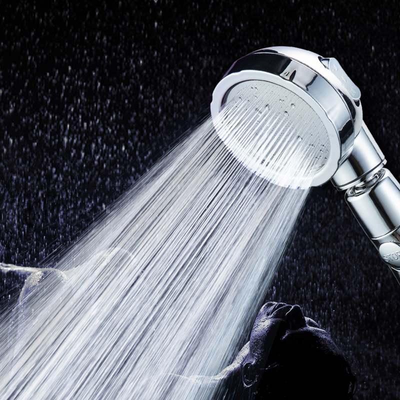 Handbrause Hochdruck Chrome 3 Spary Einstellung Wasserspar Adjustable Luxuxbadekurort Abnehmbare Dusche mit Stopp-Taste