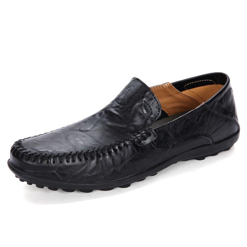 24 styls Designer de couro genuíno Sapatos Casuais de Luxo lace-up ou Slip-On terno dos homens sapato Vestido Sapatos de respiração de Condução Sapatos de Carro grande tamanho 37-47