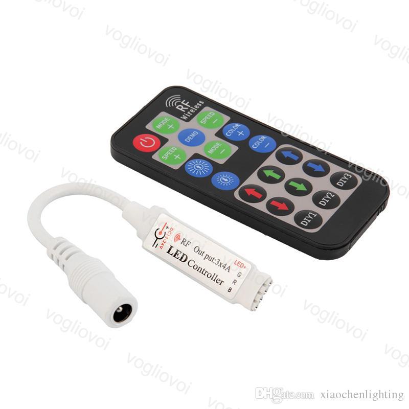 Controladores RGB Mini RF 19keys DC5-24V Acessórios de iluminação sem fio PWM para 3528 5050 2835 Frete Módulo Pixel Light DHL