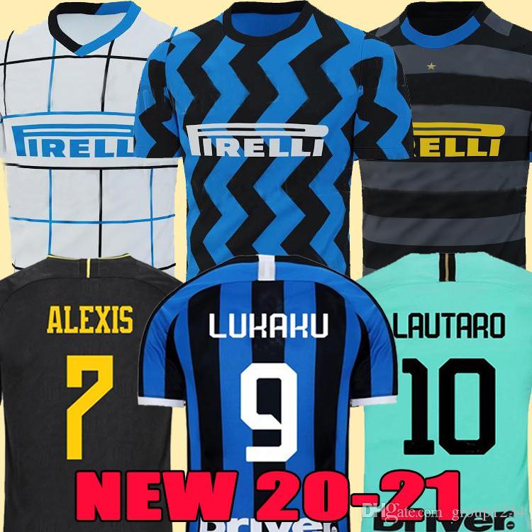 ERIKSEN LUKAKU LAUTARO Inter 2019 2020 2021 Milan soccer jerseys BARELLA maglia 19 20 21 football top shirt Men boys Kids Kits sets uniform