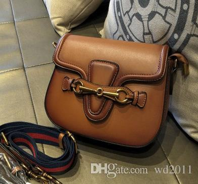 Top quality hot sale women crossbody messenger handbags good quality leather bags classical style saddle bag dust bag box