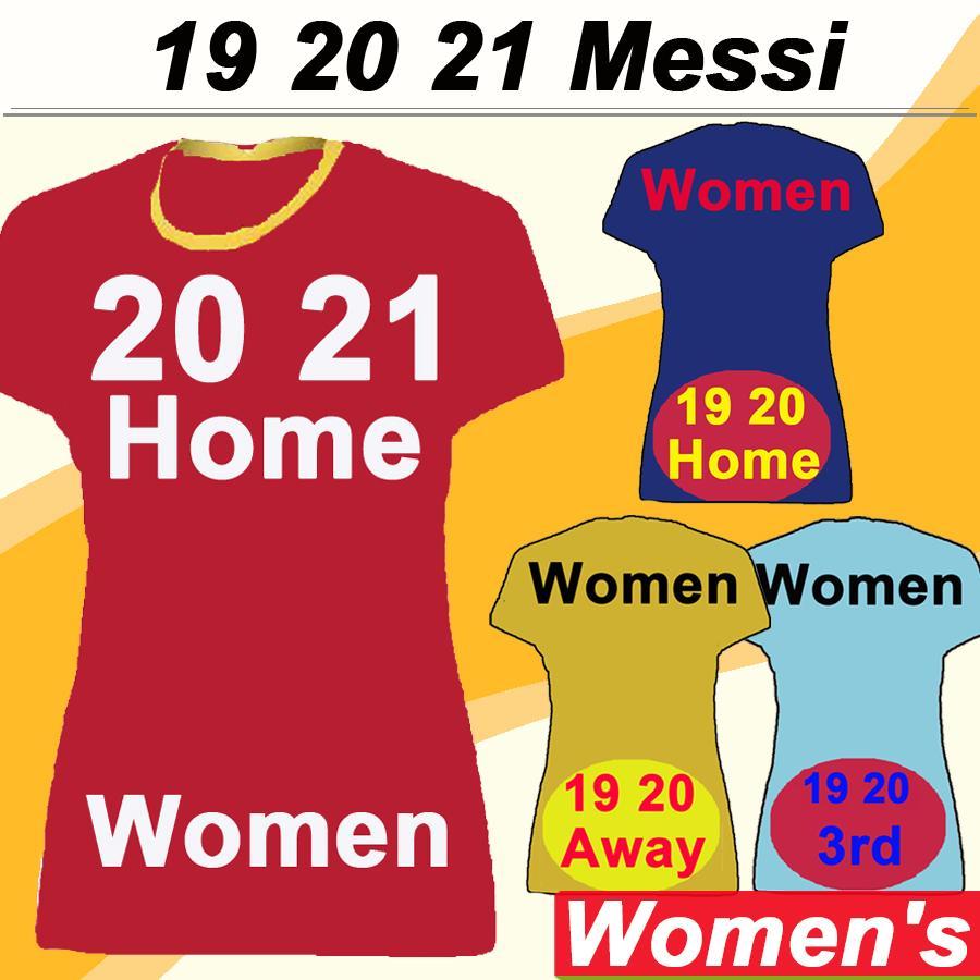 19 20 21 메시 GRIEZMANN 여성 축구 유니폼 SUAREZ 자랑 A. 이니에스타 홈 블루 어웨이 3 축구 셔츠 라키 티치 하 파에 우 알칸타라 짧은 레이디 유니폼