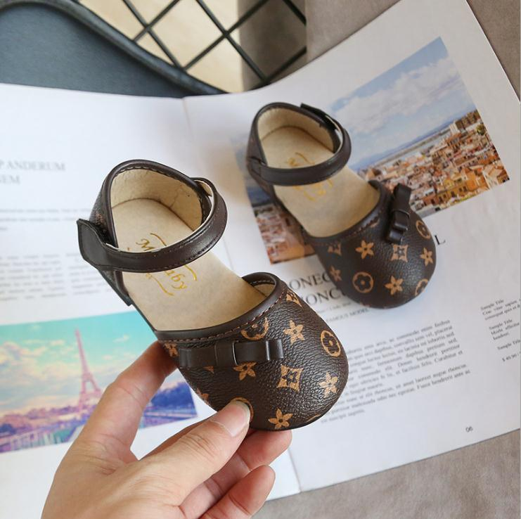 Kids Baby Moccasins Baby Girl Child Shoes PU Leather Princess Crib Shoes Girl Shoes