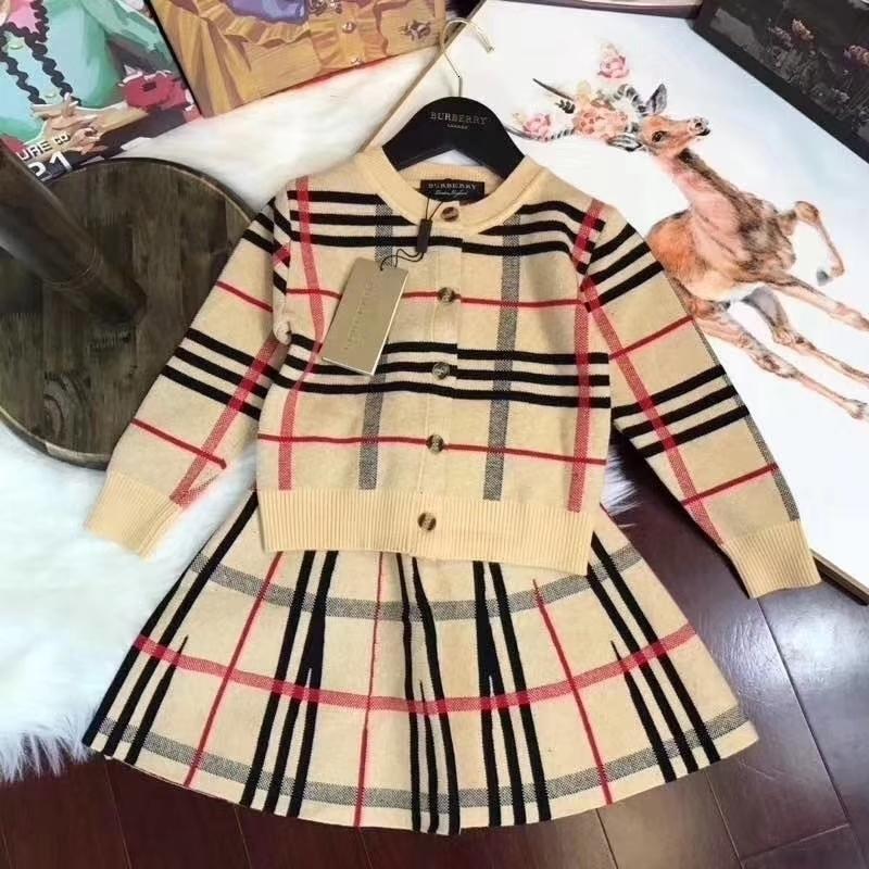 Duas peças Roupas crianças 2019 New Kids Coreano Roupa Set manga curta Mesmo meia-noite Suit a roupa das crianças tutu vestido 092011