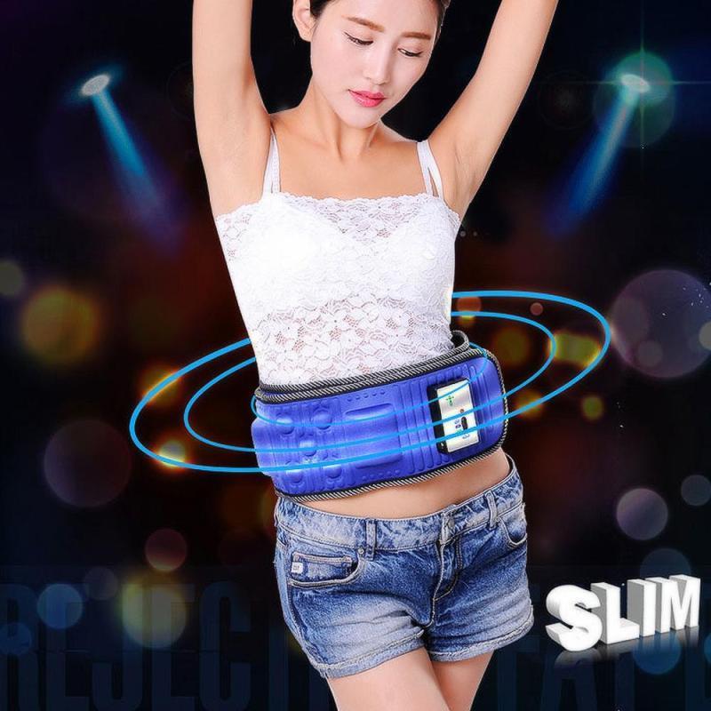 Elektronische Muskelstimulator Slimmerbelt Massage Gewicht verloren Fettverbrennung Gerät Anti-Cellulite Body Building-Massage-Gurt L3