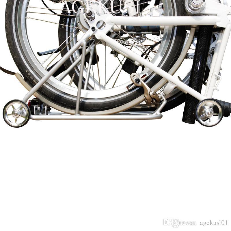 AGEKUSL Bike Rear Regular Rack For Brompton Folding Bicycle Cargo Rack Wheels