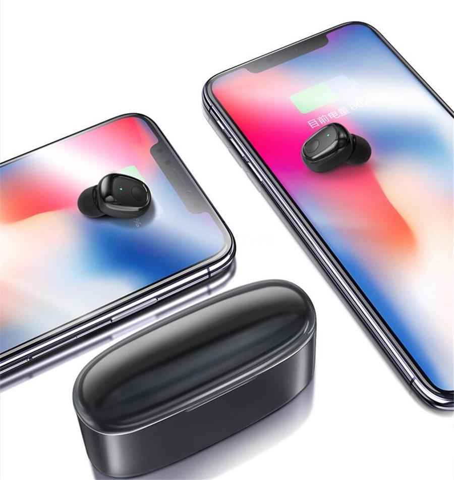 Neues Design Mini Twins drahtlose Bluetooth 5.0 Stereo Wasserdichte Sport-In-Ohr Kopfhörer Earbuds TWS mit Ladebuchse für Smartphone # OU521