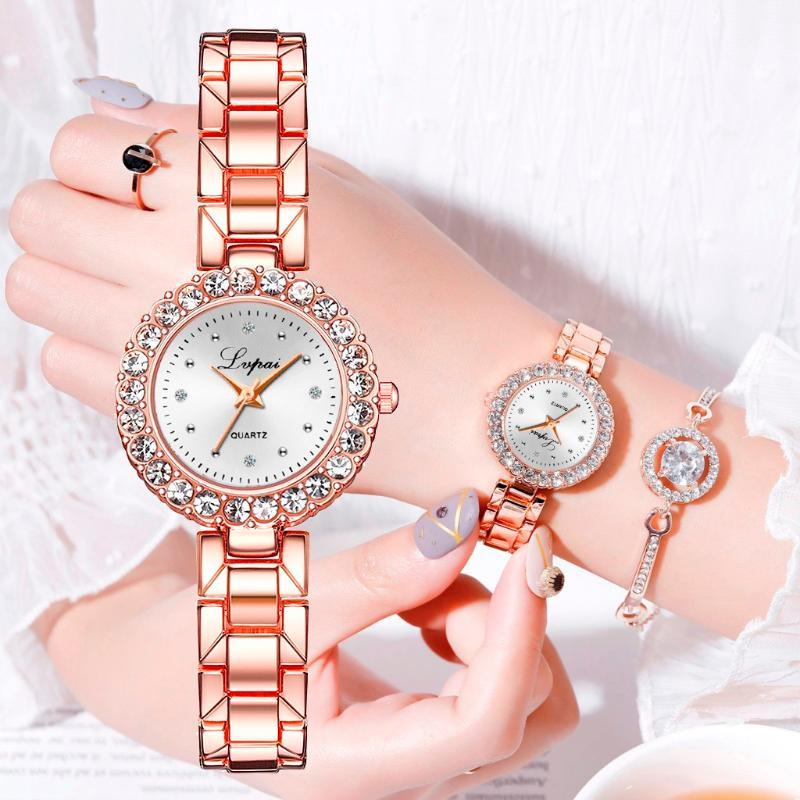 Women's Watches relojes de mujer relogio Wrist Watch Clock Small And Delicate European Beauty Simple Casual Bracelet Watch Suit