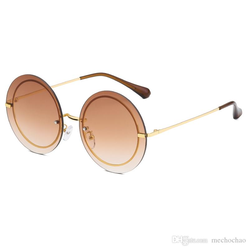 Top Quality Retro High End Womens Sunglasses Fashion Round Gold Frame Sunglasses Brand Designer Men And Women High Definition Sunglasses Eyewear Designer Sunglasses From Mechochao 14 22 Dhgate Com