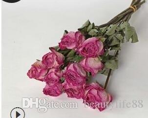 وارتفع الزهور المجففة ، زهرة الديكور الأسرة الأدبية ، وإطلاق النار الخلفية ، والزهور ، DIY ، المنزل ، والزهور المجففة ، وتجارة الجملة