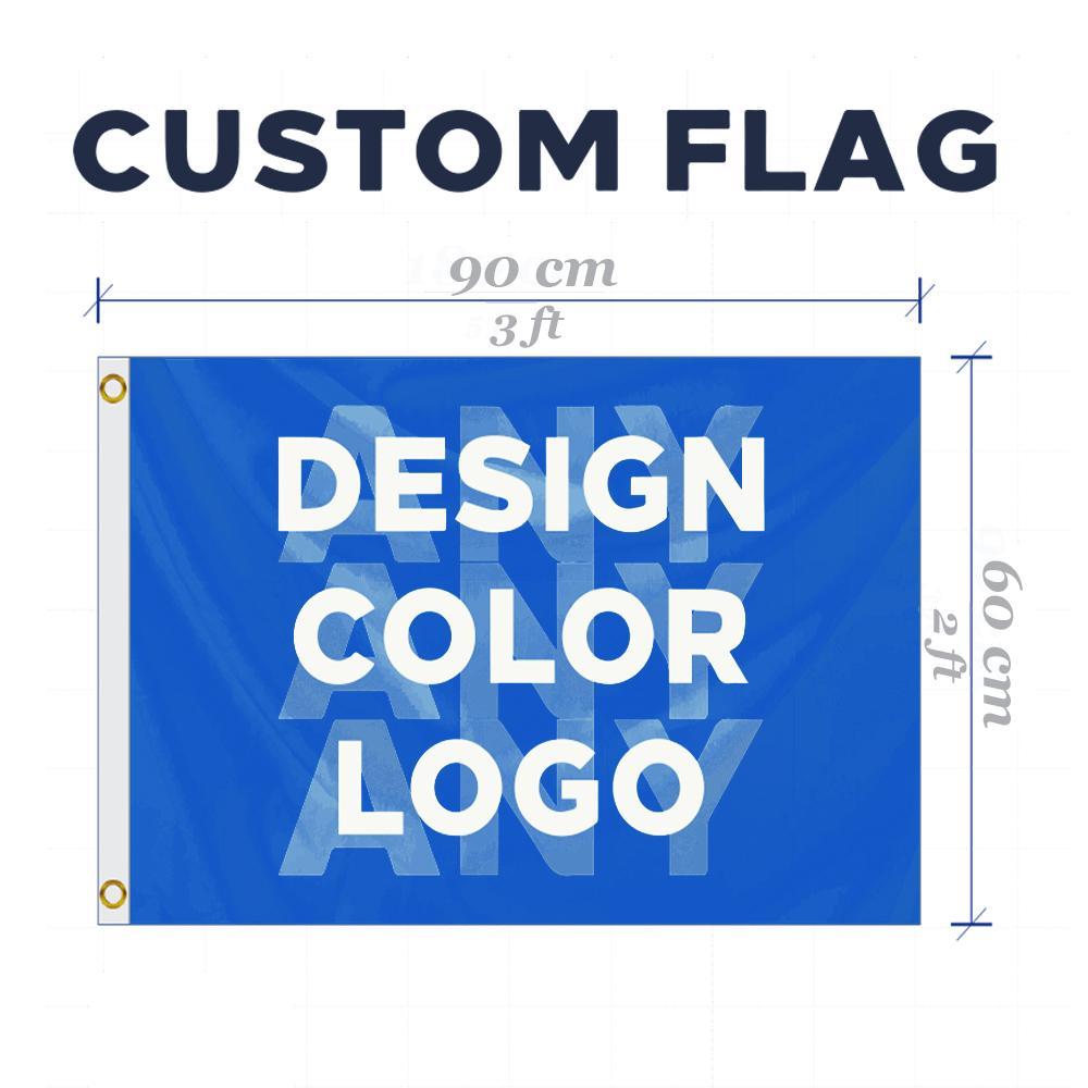 Individuelle 2x3 FT Flag Club Brand Company Logo Sport und Outdoor Banner Banner 60x90cm anpassen Flaggen Messing-Ösen, freies Verschiffen