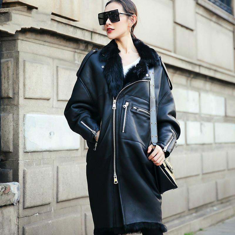 Frauenpelz Faux Wolle Futter Schaffell Mantel Herbst Winter Frauen Kleidung 2021 Echte Echte Lederjacke Koreaner Vintage Doppelgesichter Oberteile