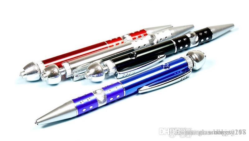 оптовой качество Шариковой ручки трубы стиль табакокурение металл алюминий рука Переносной сухая трава труба бесплатная доставка