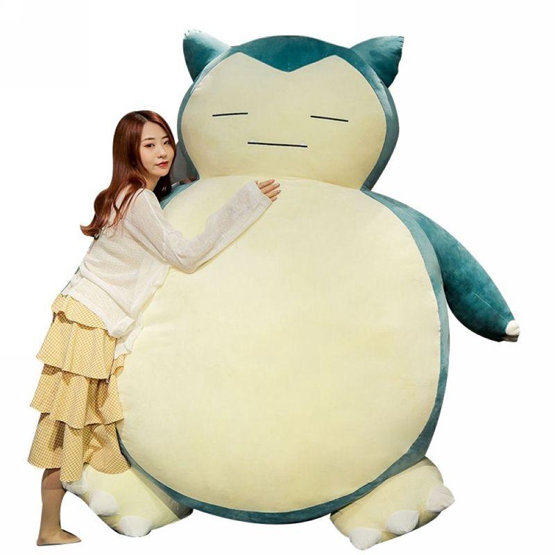Factory Direct Biggest 150cm 200cm Plüsch Anime weiches Stofftier Puppe Snorlax Plüschtier Kissen Bett NUR Hülle mit Reißverschluss für Kind-Geschenk