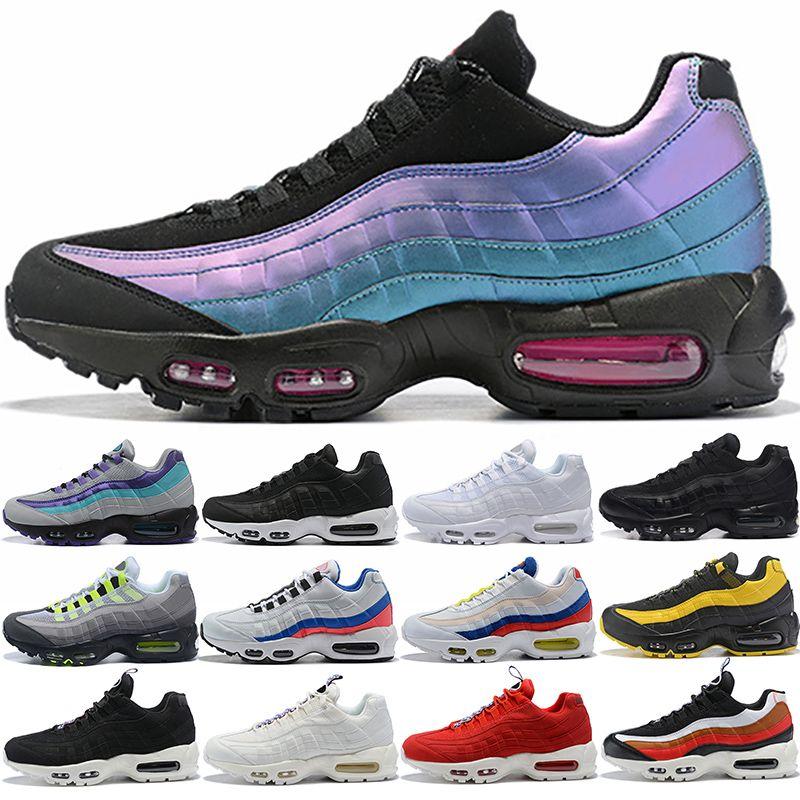Nike air max 95 airmax 95 Transporte da gota Por Atacado Sapatos de Corrida Dos Homens Almofada OG Sneakers Botas Autênticas New Walking Desconto de Luxo Calçados Esportivos