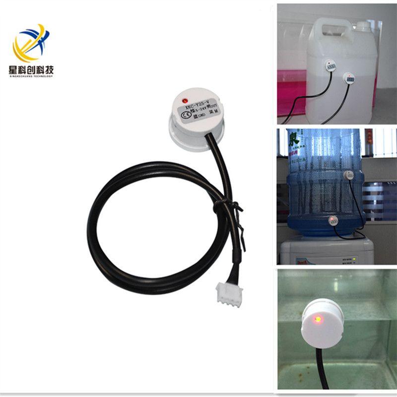 detección de líquido sensor de bola flotante 50 cm XKC-Y25-v sin contacto del nivel de líquido interruptor inductivo NPN controlador de nivel de agua