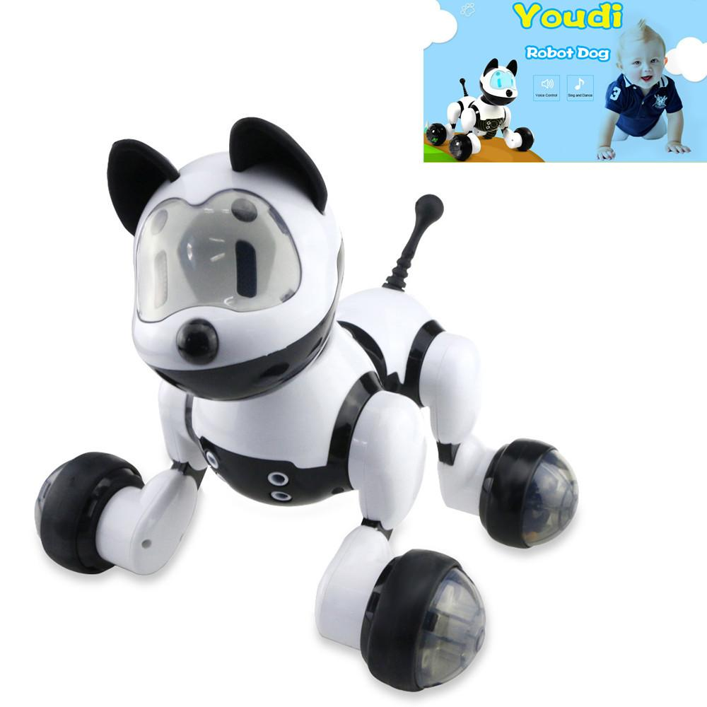 Clearance Children Funny Voice Control Smart Robot Dog Kids Toy Intelligent Talking Robot Dog Toy Electronic Pet Birthday Gift Y200428