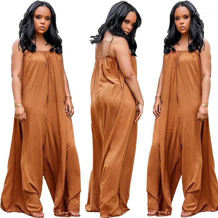 Uzunluk Katı bodysuit Moda Kadın tulum Yaz Sashes Gevşek Kadın Tulumlar Tam