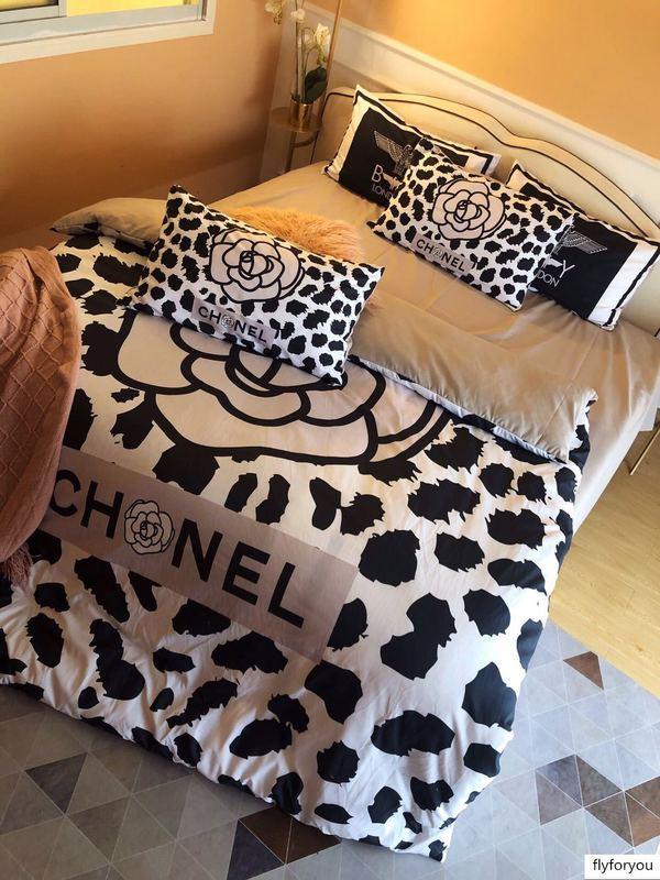 Designer Big marca de moda Four Seasons peso elevado grama engrossado cetim lixar quatro peças de cama de luxo